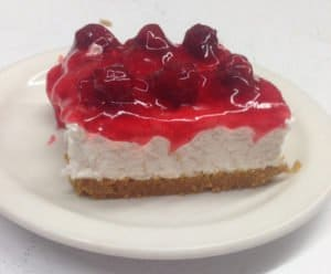 dessert, cherry cheesecake
